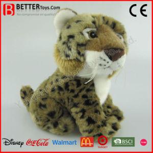 Giocattolo molle realistico della peluche del leopardo dell'animale farcito di ASTM