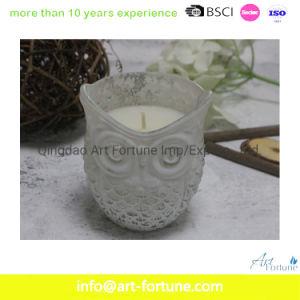 Jarra de vidro Aroma em forma de vela com revestimento de cor para o Festival