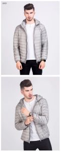 Les hommes Goose Down Jacket Outdoor Fashion rembourré léger vêtement de sport extérieur d'hiver Puffer