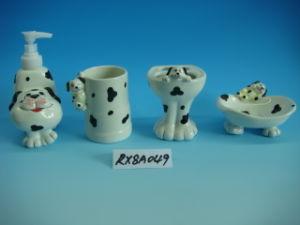 Cuarto de baño de cerámica con pintura de mano