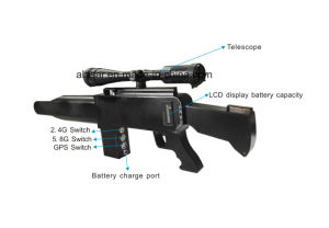 Pistola láser portátil tipo de Telescopio punto GPS Glonass 5.8g Anti 2.4G con aviones no tripulados UAV