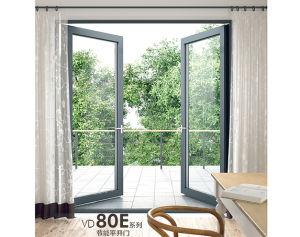 Portello di alluminio interno in opposizione della stoffa per tendine con doppio vetro Tempered