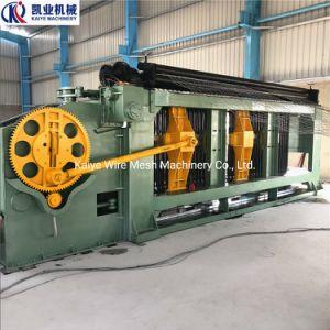 Heavy Duty automática Bloque doble malla de alambre Hexagonal Gabion máquina