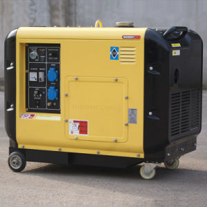 バイソン(中国) BS3500dsea 3kw 3kVA AC単一フェーズの長期間の時間ディーゼル発電機の圧縮空気の発電機