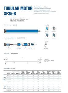 35mm 45mm 55mm 59mm 92mm Rodillo Tubular Shutter Motor para persianas de ventana/