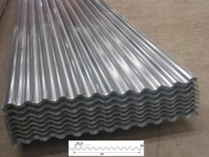 folha de aço galvanizada corrugada recursos da telhadura do telhado do metal de 1200mm
