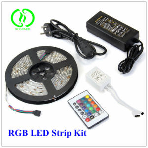 Kit flessibile impermeabile senza fili poco costoso dell'indicatore luminoso di striscia di RGB LED