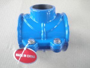 Para o PVC/Di/tubo de PE Di abraçadeira tipo sela o assentamento do tubo de ferro fundido dúctil