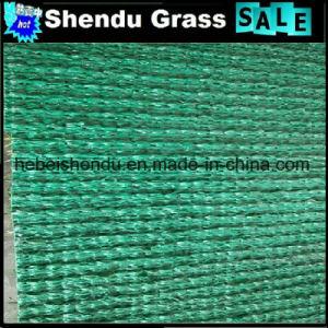 C Shape verde de fibra back sintético de forragem em relva artificial 35mm com 16800Densidade tuft