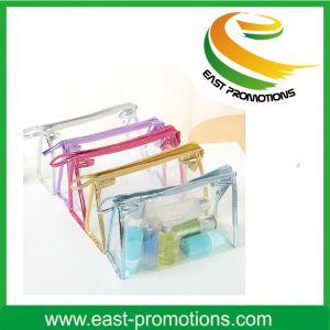 PVC明確な透過袋の化粧品は袋の洗面用品旅行ジッパーのギフトをニースに構成する