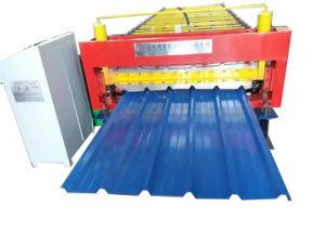 Dx Trapezoidal Certificado ISO del techo de la hoja de hierro que hace la máquina