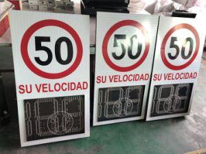 Segno infiammante di velocità del radar dell'indicatore luminoso del segnale d'allarme di sicurezza stradale LED