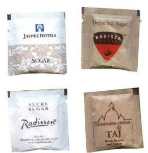 Сахар трубу дополнительного сырья саше упаковки бумаги PE пленка с покрытием