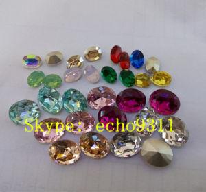 Kleurrijke Ovale Vorm Rhienstone voor de Decoratie van Juwelen (DZ-3002)