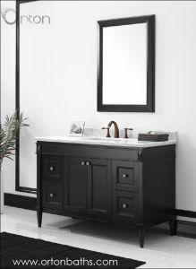 Дешевые твердых туалетный столик в ванной комнате, отделанной деревом кабинет