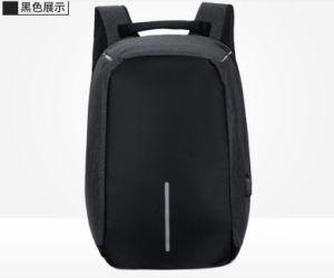 Antirrobo moda Nylon 15 bolsa para portátil mochila con un cargador USB