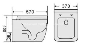Австралийский стандарт санитарных продовольственный и Wels водяного знака официального утверждения для установки на полу туалета чашу (6015)