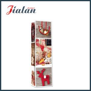 Sacco di carta di stile di natale di vino della bottiglia di acquisto del regalo di legno dell'elemento portante