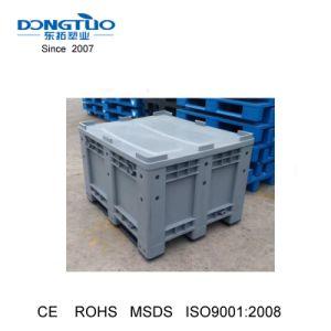 Caixa de paletes de plástico sólido, recipiente de paletes de plástico resistente caixa de plástico