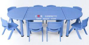 Plastik scherzt runden Tisch und 4 Stühle für Kindergarten