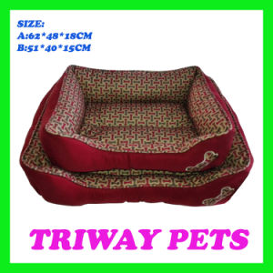 Estilo impresso óssea Cão Gato camas para animais de estimação (WY161054-2A/B)