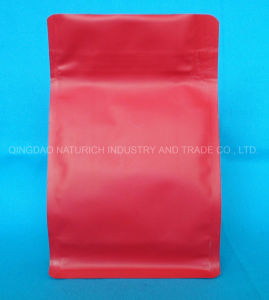 Matt rojo de fondo plano de plástico bolsas de café con válvula