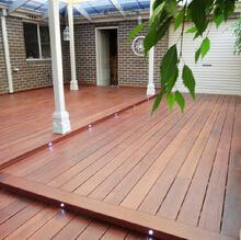 Merbau impermeable de madera revestimientos exteriores Revestimiento de suelos