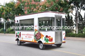 Дисплей продажа продуктов питания для барбекю столовой мобильных продуктов питания погрузчика