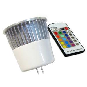 Fabrik 5W MR16 RGB LED Spotligt mit 28-Key Controller