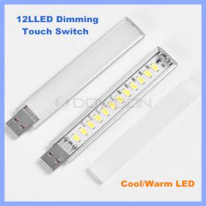 12 LED 5730 SMD che oscurano l'indicatore luminoso del libro del USB dell'interruttore di tocco