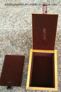 Contenitore di regalo di legno del grado superiore che si affolla velluto per l'imballaggio del tè