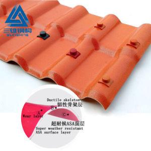 Feuille de toiture matériau synthétique de couleur de la résine tuile de toit