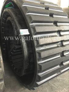 800x125x80 Dumper vía sustitución gran Oruga de goma para Morooka MST2000