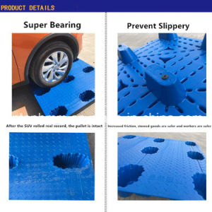 Blue Nove pés Palete de Rack para armazenamento de alimentos de talho sejam produtos de plástico