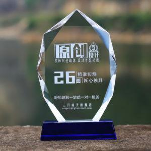 Kristallglas-Medaillen-Glastrophäe-Preis-Plakette