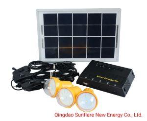LED portátil luz solar com carregador para telemóvel