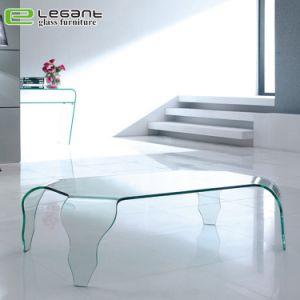 Tavolino da salotto di vetro piegato dell'angolo rotondo con il bordo smussato
