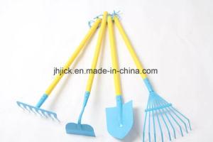 Conjunto de herramientas de jardín de mejor venta largo mango de madera roja y la cabeza de acero de carbono para los niños y la señora