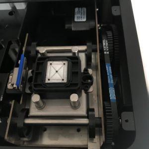 Taille mini Imprimante scanner à plat UV avec système de circulation d'encre blanche