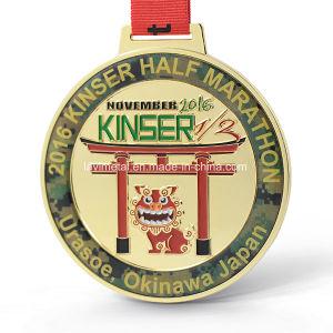 주문을 받아서 만들어진 금속 일본 사람 실행 마라톤 스포츠 메달