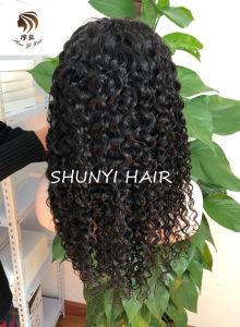 9Un cheveu humain Glueless Full Lace Wigs vierge péruvien cheveux frisés profonde perruques pour les femmes noires avec bébé sèche