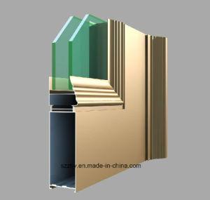 Portelli di alluminio Finished personalizzati Windows/dell'alluminio dell'espulsione/profilo parete divisoria