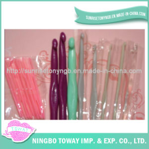 O bambu de porcelana de plástico do lado personalizado de croché Tricot Space Needle