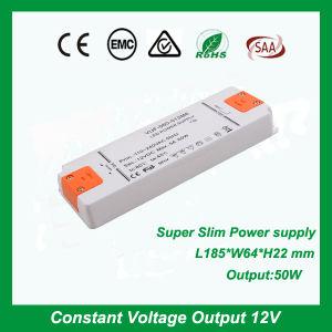 Tensión constante TIRA DE LEDS12V/24V 50W fuente de alimentación Ultra Slim