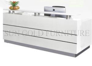 Bureau de réception de salon de luxe blanc moderne moderne sz