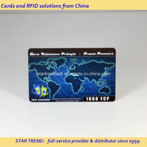 Rasque la tarjeta de plástico con código de barras para la tarjeta recargable