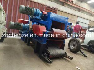 picador de madeira do tambor de 8-10 t/h, pode aceitar matérias 230mm de diâmetro para toras de madeira/Toda a árvore/Ramos/Madeira contraplacada /Palettes/ Resíduos de Madeira