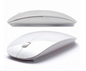 Witte Draadloze de vorm-Montage van de Ontvanger 1000dpi USB van de Muis Slanke 3D Dunne BedrijfsMuis