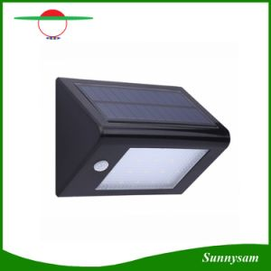 屋外350lm 20 LEDの太陽エネルギーPIRの動きセンサーの庭のヤードの壁ライト