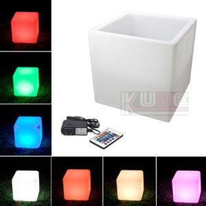 Banco de dados de cubo com LED da almofada do assento almofadado quadrados, resistente à intempérie com WiFi Remote